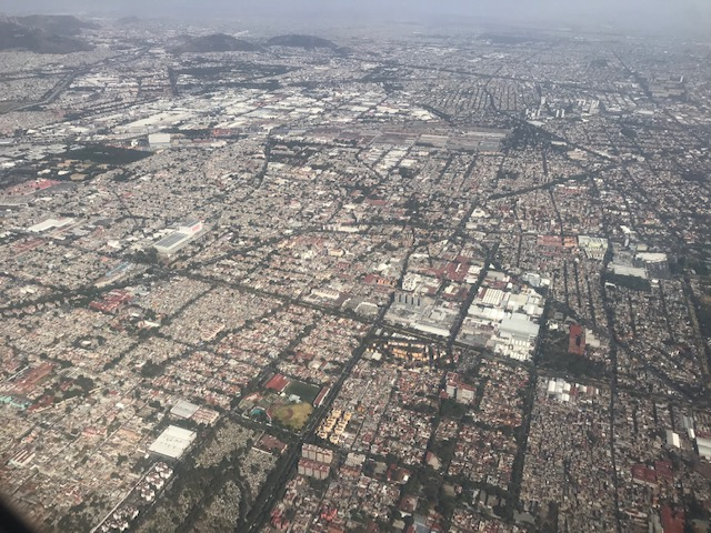 Mexico City is HUGE ..and smoggy